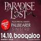 cover: Paradise Lost, Pallbearer, Sinistro @ Boogaloo, 14.10.2017.
